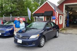 New Owners Toyota Corrola Joel and Linda Stech - Copy