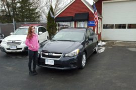 New Owner 2014 Subaru Impreza Samanth Charbonneau